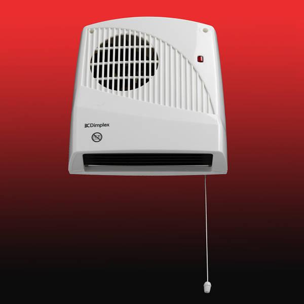 Dimplex Fx20ve 2kw Bathroom Wall Mounted Fan Heater Timer