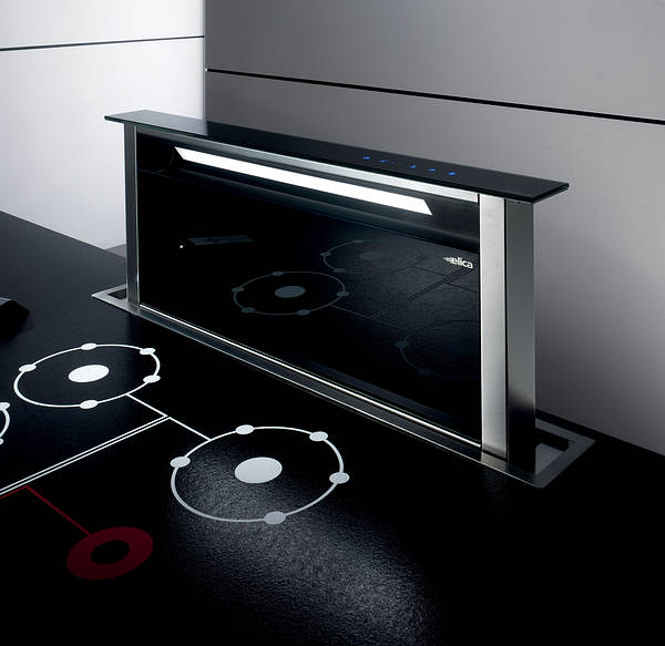 Andante Downdraft Extractor Stainless Steel / Black Glass - Less Motor ...