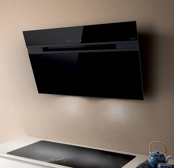 60cm Ascent Cooker Hood Black