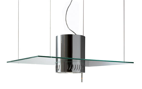 Venezia 90cm Suspended Cooker Hood Glass Stainless Steel