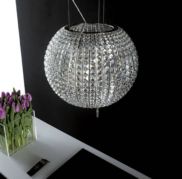 Celestial Suspended Round Glass Cooker Hood