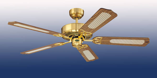 52 Monarch Ceiling Fan Satin Brass