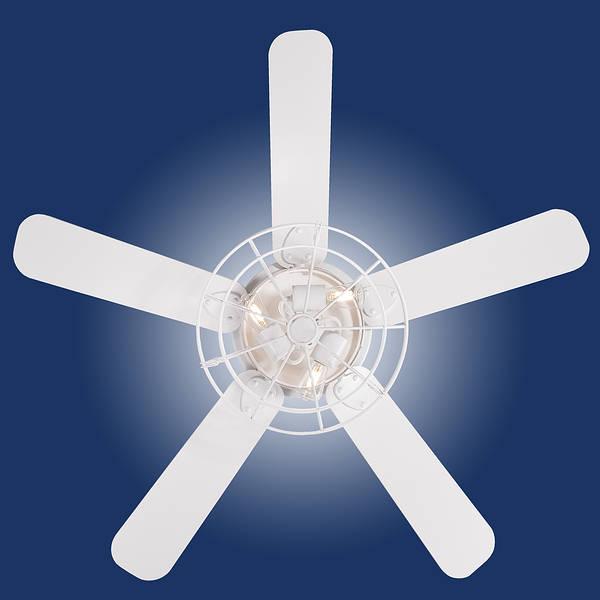 48 Barnett Led Ceiling Fan White Remote Control