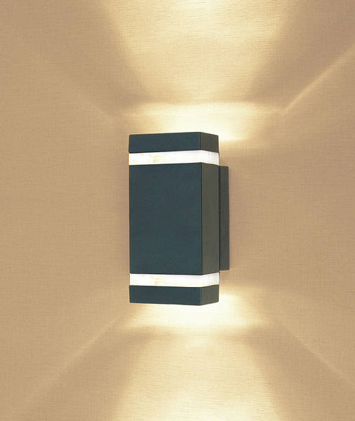 Wandstrahler Led Up Down : Azure LED Up & Down Light  Dark Grey 5024005484608 AZLE2 Dark Grey