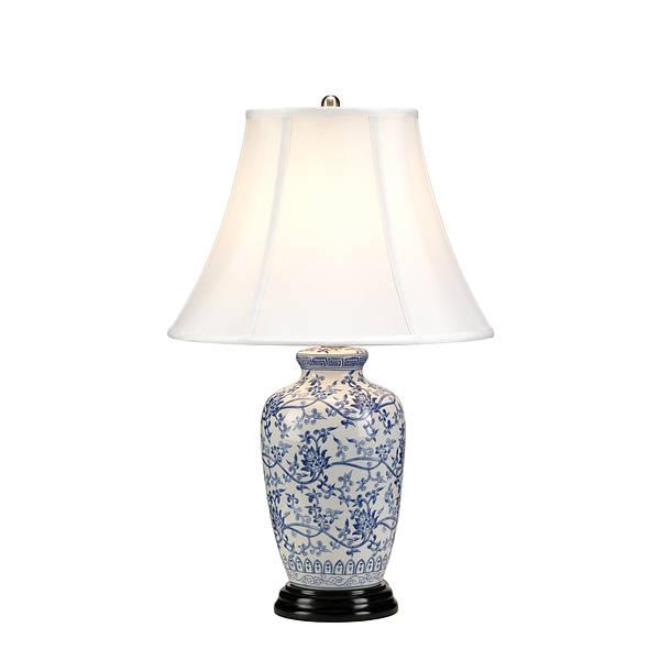 Blue Ginger Jar Table Lamp, Blue And White Ginger Jar Lamps Uk
