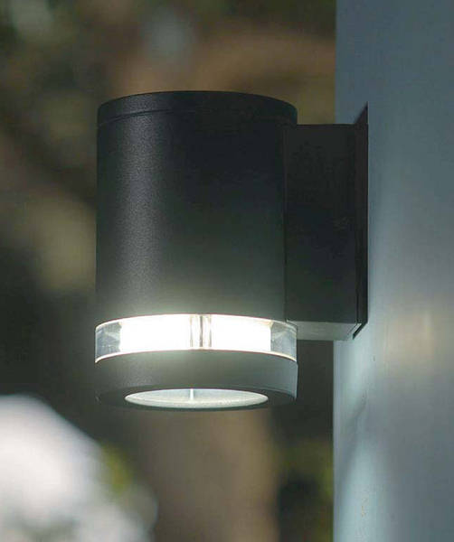 Focus Wall Light Graphite C W Clear Glass