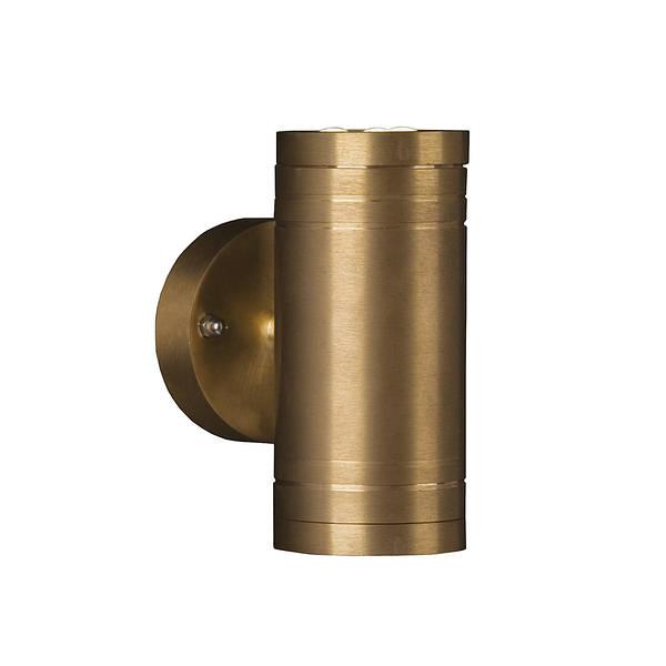 Elite2 Led Wall Light Up Down Solid Natural Brass 240v
