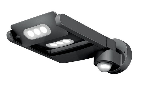 Lutec led spotlights bollards pir for Lampe applique exterieur