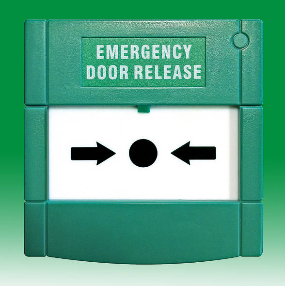 Green Emergency Door Release Surface Mount