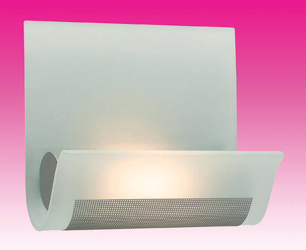 Vetro Glass Wall Lights : Vetro Acid Glass Wall Light Satin Steel
