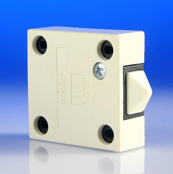 Door Switch Surface Push To Break 2 Amp White