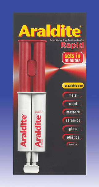 Car Glass Repair >> Araldite Rapid Syringe - Reusable