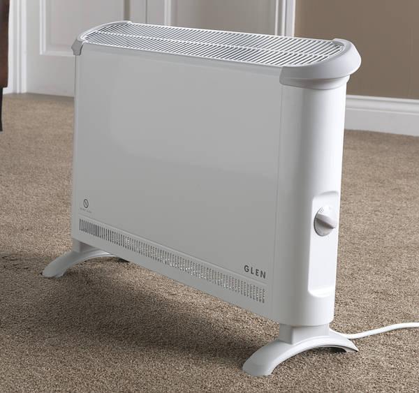 glen 2kw convector heater white. Black Bedroom Furniture Sets. Home Design Ideas