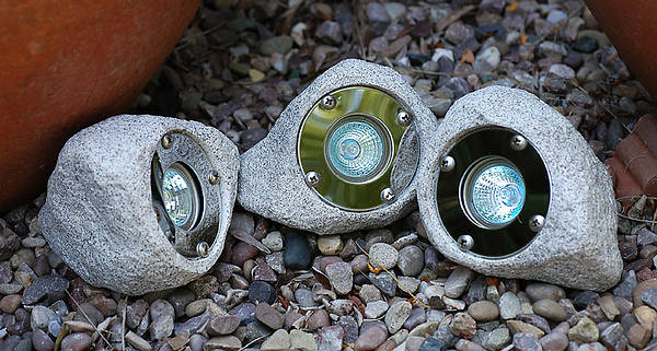 3 X 10w Garden And Pond Rock Light Set IP65