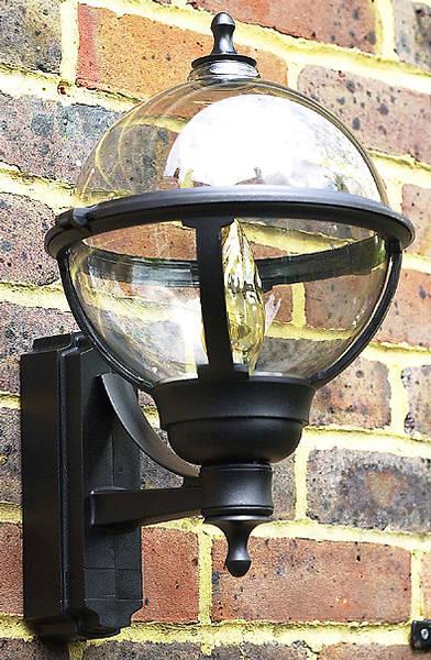 100w Bc Globe Lantern Black