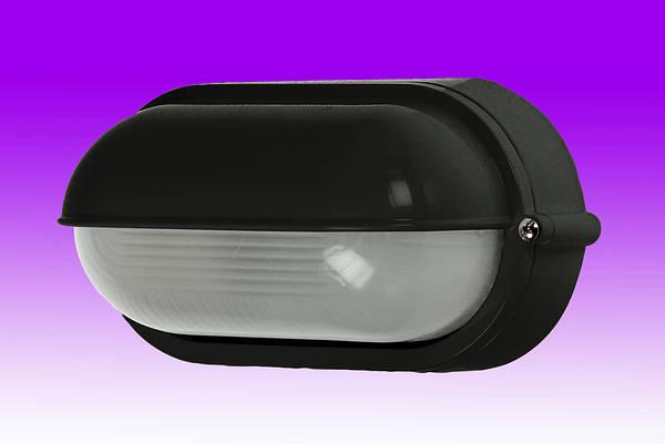 60w Es Oval Eyelid Bulkhead Ip54 Black