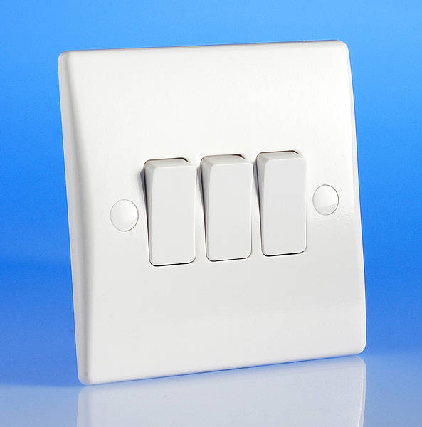 3 Gang 2 Way Light Switch