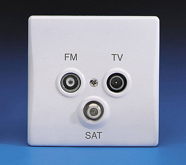 Triple Tv  Fm Triplexed Coaxial Aerial  U0026 Satellite Socket