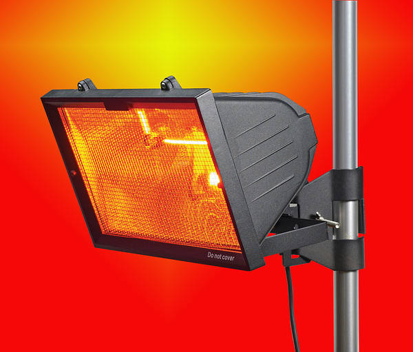 Patio Heater 1300w Black Wall Or Pole Mounted
