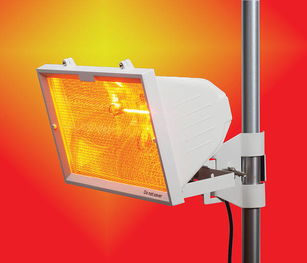Patio Heater 1300w White Wall Or Pole Mounted