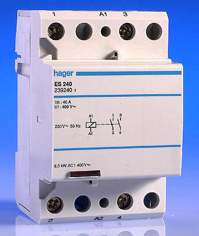 hager single phase contactor wiring diagram: 40 amp 2 pole contactor - 3  modulerh: