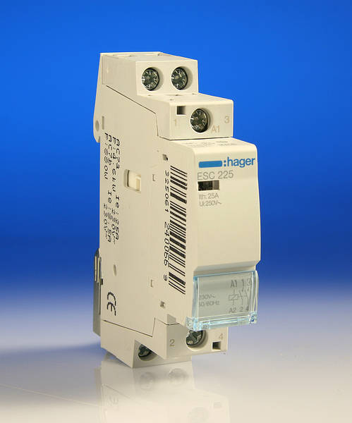 connect hager contactor esc pole and abb