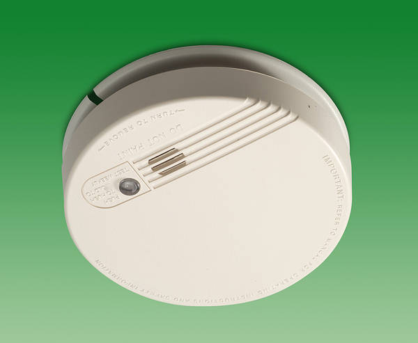mains ionisation smoke alarm   rechargeable lithium battery back up