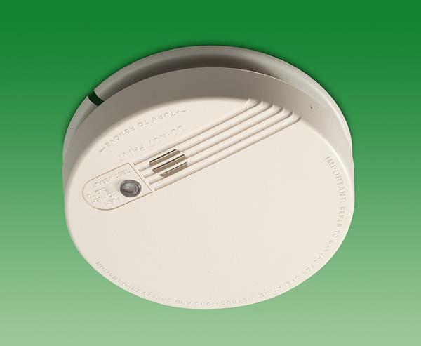 Mains Ionisation Smoke Alarm Alkaline Battery