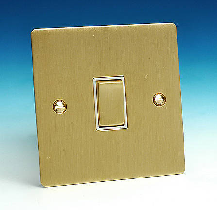 Brushed Brass Light Switches: 1 Gang 2 Way Light Switch - Brushed Brass5055559114758F2BBW,Lighting