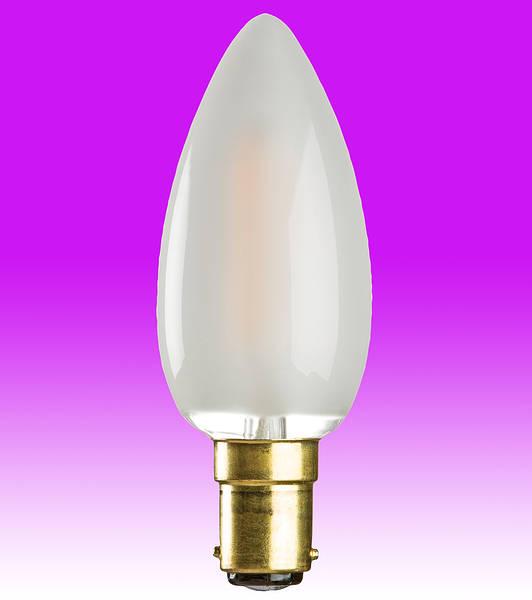 Led Filament Candle Lamp 4w Sbc B15d Opal