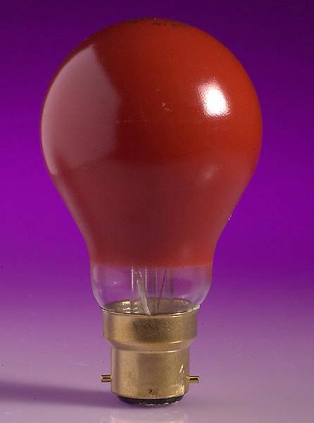 25w Bc B22d Red Gls Lamp