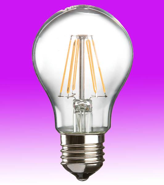 LED Filament GLS Lamp 6w ES (E27