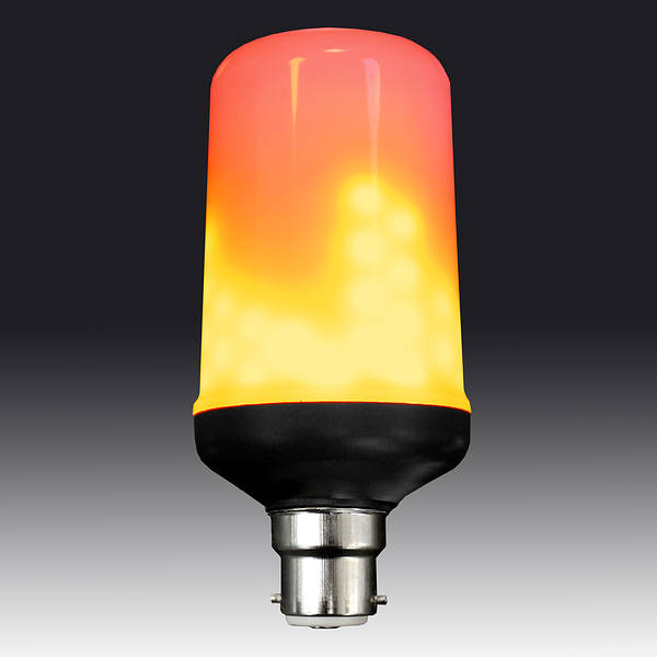 Flame effect led lamp bc b22d for upward lanterns for Direct flame