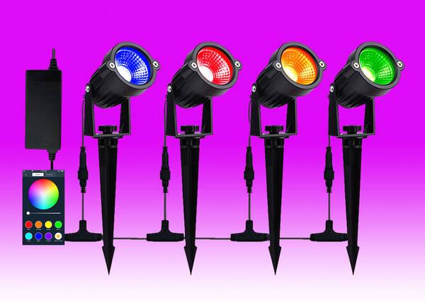 Rgb Smart Garden Light Kit 4 Lights, Rgb Garden Lights