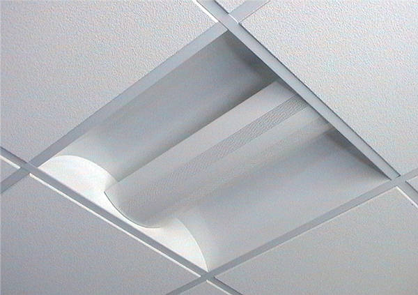 Suspended Ceiling Lights 600mm X 600mm : Recessed modular fluorescent fittings