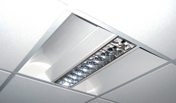 Recessed Modular Fluorescent Fittings C W Cat2 Louvres