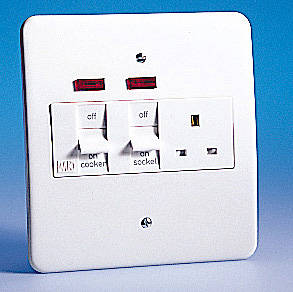 Electrical Outlet Wiring >> 45 Amp Cooker Control Unit - Metal with Neon