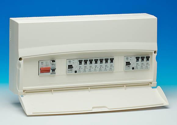15 Way Dual Split Rcd Consumer Unit 100a Mains Switch