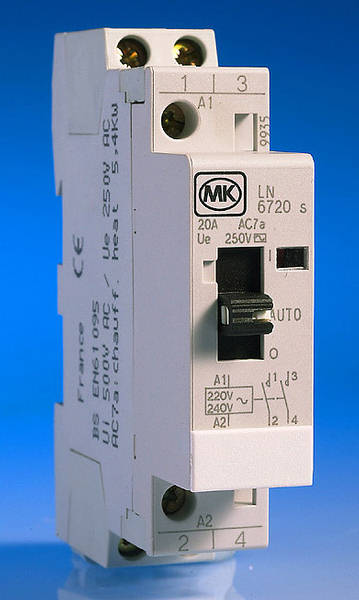 20 Amp 2 Pole Contactor Manual Over
