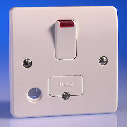 13 amp switched fused spur flex outlet and neon white