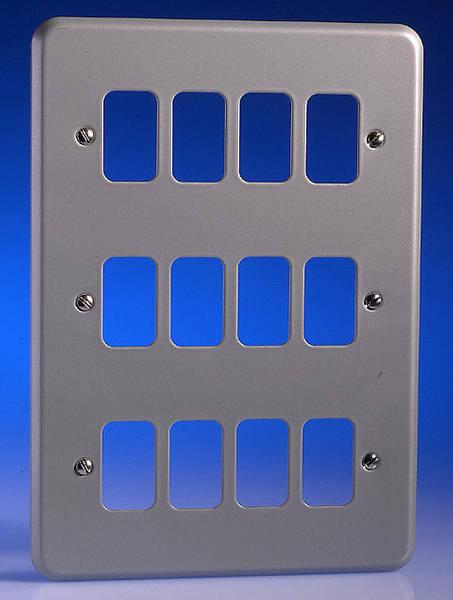12 Gang Alum Surface Grid Plate