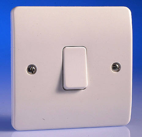 1 Gang 1 Way Light Switch White