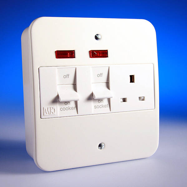 45 Amp Cooker Socket Control Unit With Neon