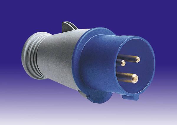 240v 63 Amp 3 Pin Mk Commando Plug Blue Ip44