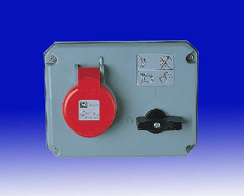 415v 32 Amp 4 Pin Mk Commando Interlocked Switched
