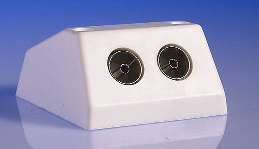 twin tv fm coaxial aerial socket surface. Black Bedroom Furniture Sets. Home Design Ideas
