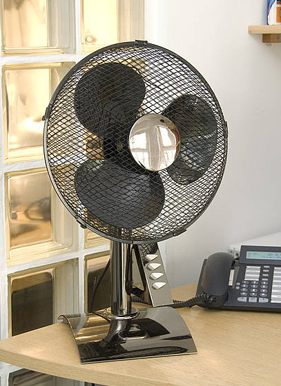 12 Inch Desk Fan 3 Speed Black