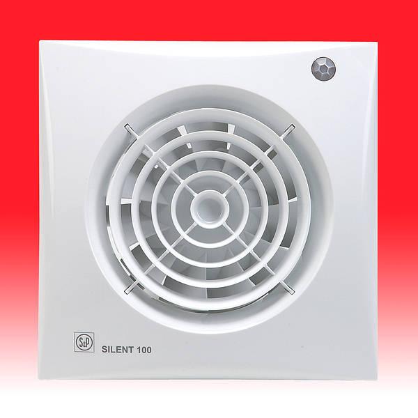 Silent 100 Cdz Extractor Fan With Shutter Amp Pir