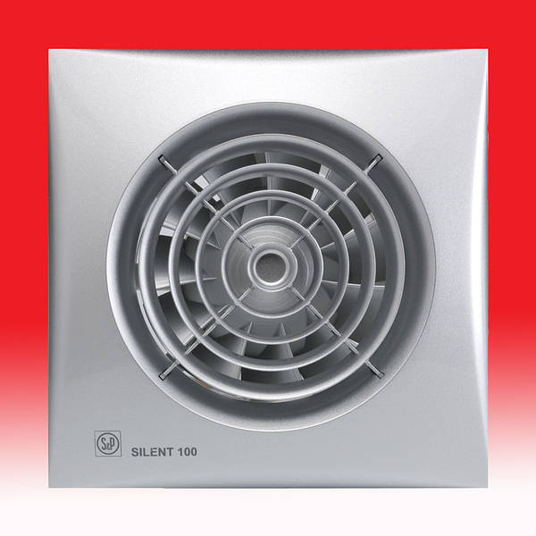 Silent 100 Cz Extractor Fan With Shutter Silver