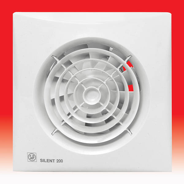 Silent 200 Cz Extractor Fan With Shutter